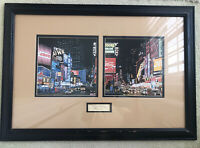 Ken Keeley Times Square Framed Hand Signed Limited Edition Serigraph Picture