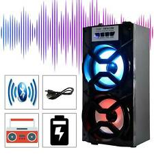 WIRELESS BLUETOOTH OUTDOORS PORTABLE SPEAKER SUPER BASS STEREO w/USB/TF/FM RADIO