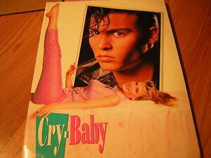 CRY BABY PRESS KIT 1990 JOHNNY DEPP 25 PRESS PHOTOS W/FOLDER TRACI LORDS