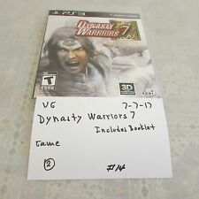 Playstation Network PS3 Dynasty Warriors 7 game- 3D compatible game/video 0707