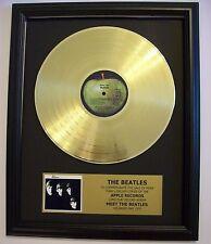 Meet The Beatles Gold LP Record + Mini Album Disc Not a Award + Plaque