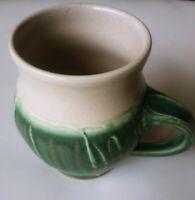 Pewabic Detroit Pottery Mug Coffee Cup Art Pottery 2008 green/ivory signed