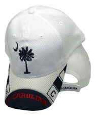 "South Carolina SC State ""S. Carolina"" Mesh White Embroidered Cap Hat 721C"