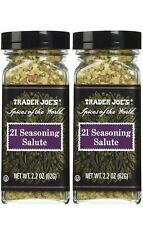 2 Trader Joe's 21 Seasoning Salute 2.2 oz  Salt Free Grill Bake Cooking spice