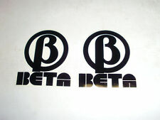 "ADESIVO - DECALO ""BETA"" NERO --- SET 2 PEZZI"