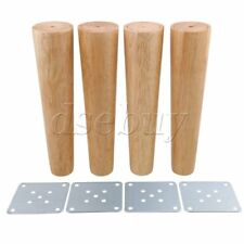 4Pieces 25cm Height Tapered Wood Furniture Legs Sofa Feet Wood Color