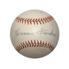 Herman Franks Psa/dna Signed National League Baseball Authentic Autograph