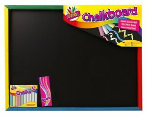 Large Wooden Black Board With Chalks Board Rubber Framed Notice Menu Home Office