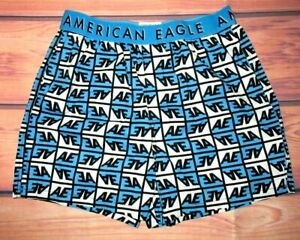 MENS AMERICAN EAGLE BLUE STRETCH BOXER SHORTS SIZE S (29/31)