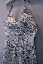 B. Darlin Stunning Black and White Halter Floral Cocktail Dress w/Lace Size 5/6