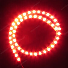 Red 48cm 48LED PVC Flexible LED Strip Light Waterproof for Car Motorcycle