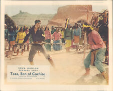 Taza Son Of Cochise original Lobby Card Rock Hudson fight scene