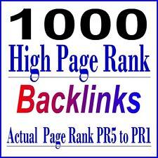 High Pr Backlinks 1000 Actual Page Rank Permanent Backlinks Seo Service