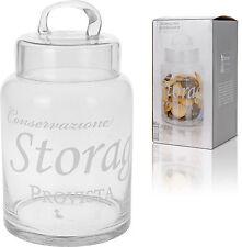 LOVELY GLASS STORAGE JAR con coperchio in vetro COOKIE DOLCE JAR PASTA JAR