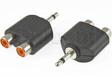 Dual Double RCA Jack to 3.5mm Mono Plug 15-0786