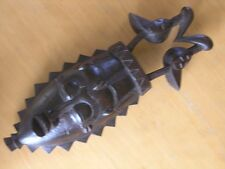 """Good Vintage Hand Carved African Mask Wall Hanging with Two Birds on Top 17"""""""