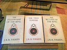 THE LORD OF THE RINGS trilogy, J R R Tolkien, U.K., 10th/7th/7th