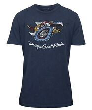 New Men's Dodge Scat Pack T-Shirt T Shirt Short Sleeve Navy Large
