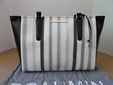 NEW BRAHMIN MEDIUM ARNO GREY LEATHER HANDBAG/SHOULDER $325