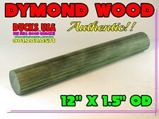 "Dymond Wood Authentic Mallard Green Solid Turning Blank 12"" x 1.5"" Od"