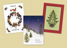 Weihnachtskarten auf deutsch oder englisch - Motive aus gepressten Blumen