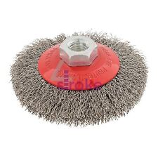 115mm Rotary Stainless Steel Wire Brush Crimp Bevel Wheel Angle Grinder