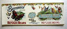 1920s Butterfly Can Label Embossed w/ 27 Butterflies