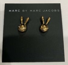 marc by marc jacobs bunny Rabbit studded  Earrings