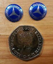 uk seller 2X 14mm remote Key fob Badge 3D Emblem Sticker Decal Mercedes benz