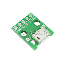 2PCS MICRO USB To DIP Adapter 5pin Female Connector  2.54mm Pcb Converter