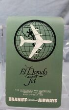 Vintage Advertising Pocket Wallet Calendar Card: 1963 Braniff Airlines