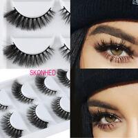 5 Pairs 13Styles SK 3D Mink Hair False Eyelashes Wispy Cross Long Lashes Makeup