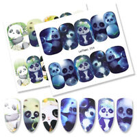 LEMOOC 10 Sheets Nail Water Decals Animals Design Nail Art Transfer Stickers