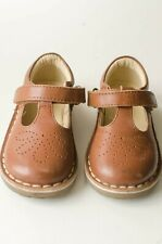 Mini Boden Toddler/Baby Girls brown leather T-bar flats size 24 Us Toddler size