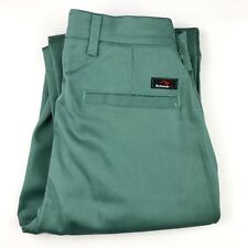 NEW BULWARK FR Flame Resistant Green ARC 11.2 Unhemmed Work Pants Size 28