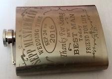Edelstahl Flachmann - Wunsch-Gravur, Engraved Hip Flask WHISKY STIL 200ml, 7oz
