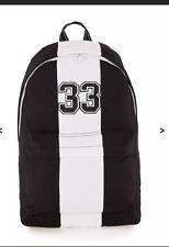 TOPMAN  Black And White Striped Rucksack Backpack Bag NEW!