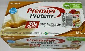 Premier Protein High Protein Shakes (11 fl. oz., 18 pack) CARAMEL OPEN BOX