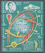 KOREA 1966 used SC#702a  Block of 8 #695/702, Kyongrak Biological System.
