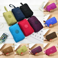 Lady's Phone Bag Short Wallet Three-Layer Zipper Purse Plus Size Coin Purse Case