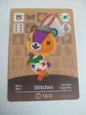 Stitches Animal Crossing Amiibo Card Nintendo Switch 3DS Wii U