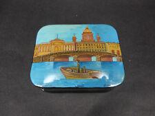 "Russian Lacquer Box ""Saint Petersburg"" 828  - Kholui hand painted Russian  Box"