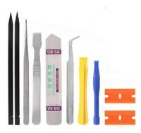 10 in 1 Cell Phone Repair Opening Pry Disassemble Tools Set Spudger Tweezer Kit