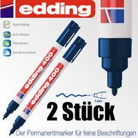 Edding 400 blau permanent Stift wasserfest 2 Stück