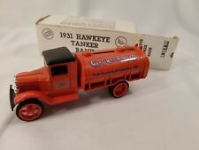 Gulf Refining Co. 1931 Hawkeye Tanker Bank. ERTL. Die-Cast Metal
