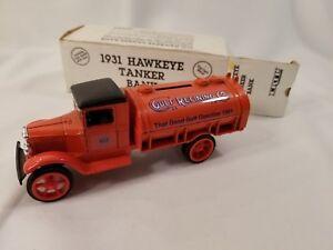 Gulf Refining Co. 1931 Hawkeye Tanker Bank. ERTL. Die-Cast Metal