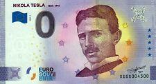 Null Euro Schein - 0 Euro Schein - Nikola Tesla  1856-1943 2020-2 Anniversary
