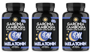Garcinia Cambogia PM, Weight Loss Sleep and Rest Aid, 3-Pack