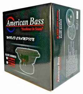 "American Bass Elite Series 1244 12"" Subwoofer Dual 4 Ohm 1200 Watt E-1244"
