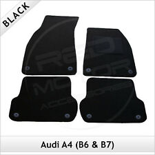Audi A4 Saloon B6 2001-2006 Tailored Fitted Carpet Car Floor Mats BLACK